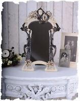 Mystischer Schminkspiegel mit Frauenkopf Jugendstil dekorativer Tischspiegel neu