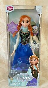 "Disney Store Exclusive Frozen Princess Anna 16 "" Singing Doll -  PLEASE READ"