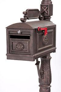 Locking BRONZE Mailbox Premium Secure Cast Aluminum Mailbox Better Box Mailboxes