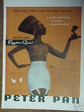 1954 Peter Pan Memorabilia Egyptain Queen Women Panty~Waistline Girdle Promo Ad