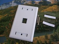 25 -1 Port Keystone Faceplate White w/Windows RJ45 Face Plate USA SELLER!