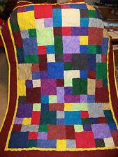 New Handmade patchwork quilt  / quilted throw / baby quilt