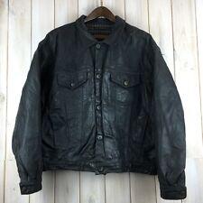 Vintage Chevignon Nubuck Leather Western Trucker Jacket XXL