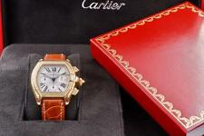Cartier Roadster 2619 Chronograph XL 18K Yellow Gold Watch With Box