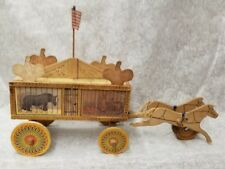 Vintage Antique Reed Co. Wood Toy Menagerie Circus Wagon 1880's