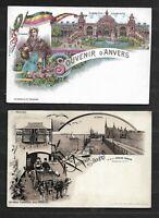 .2   Cartes  Postales  NEUVES  SUPERBE ETAT   Dim  9 X 14 Cm