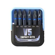 V5 Impact Punte Pozi PZ1 PZ2 PZ3 50 mm | 6 in (ca. 15.24 cm) | Set si adatta Makita Dewalt Milwaukee