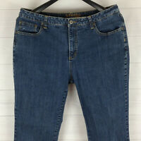 St. John's Bay womens plus size 18W short stretch blue medium wash bootcut jeans