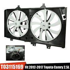 Dual Condenser Cooling Radiator Fan For 2012-2017 Toyota Camry 2.5L L4 Engine