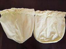Two Pottery Barn Baby Kids Basket Hamper Liners Yellow Gingham Checked