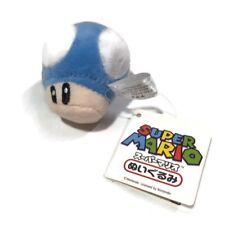 Official Nintendo Super Mario Bros Mushroom Soft Plush Key Chain Charm BLUE