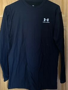 UNDER ARMOUR COMPRESSION Pullover Mens Size XL Black Coldgear Long Sleeve Shirt