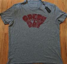 $88 Mens John Varvatos Star USA Green Day Graphic T-Shirt Coal Gray XL