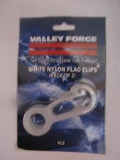 "Flagpole White Nylon Flag Clips 2 3/4"" Long #FC 2 Valley Forge Flag   NEW"