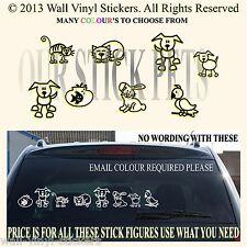 STICK FAMILY PETS CAR VAN CARAVAN STICKERS COMPLETE YOU GET ALL 8!   PETS