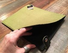 """DiVoga iPad Case Tablet Sleeve Pouch GREEN Soft Felt 8 1/4"""" X 10"""""""