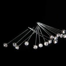 LUXURY 4mm Clear DIAMOND diamante pins WEDDING FLOWERS