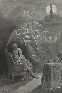 The Raven, illustration 19, 1832, GUSTAVE DORE Edgar Allan Poe Poster