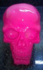 Halloween Skull Skeleton head Bright Pink Colour Style Ornament Model  Resin