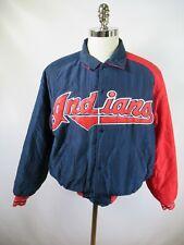E9075 VTG STARTER Cleveland Indians MLB Baseball Snap Jacket Size M Made in USA