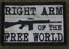 Right Arm of the Free World FAL Morale Patch Military Tactical Army Flag USA