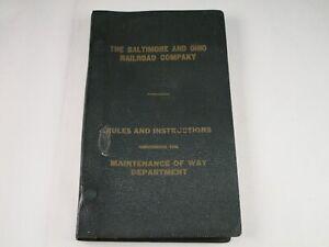 Vintage Original 1956 B & O Railroad Maintenance Of Way Department Rulebook