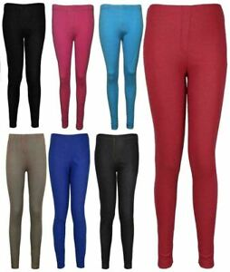 Plus Size Plain Stretchy Jeans Jeggings Ladies Pants Womens Full Length Legging