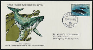 Turks & Caicos 384 on addressed FDC - Humpback Whales