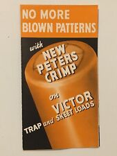 Original Peters VICTOR Trap & Skeet Shotgun Shells Brochure Box Pamphlet