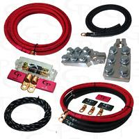 GP 4 AWG GAUGE PURE COPPER AMP KIT, BIG 3 Kit & BATTERY TERMINALS RED BLACK