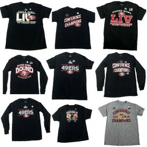 NFL San Francisco 49ers Super Bowl LIV and Conference Champs Men Tee Shirts New