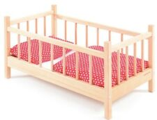 Wooden Baby Doll Cot Bed Role Play Pretend Family