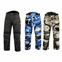 New Mens Biker Trousers Motorcycle Summer Pant Cordura Textile Waterproof FABRIC