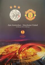 2012 AJAX v MANCHESTER UNITED MAN UTD EUROPA LEAGUE PROGRAMME FROM GROUND