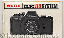 Pentax 110 Camera, Winder & 130P Flash Instruction Book, More Manuals Listed