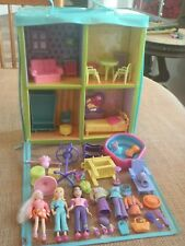 Polly Pocket Trendy Townhouse Dollhouse Take Along Carry Zippered Set Lot #4