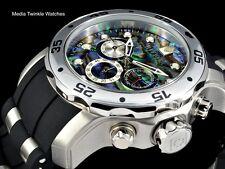 Invicta 48mm Pro Diver ABALONE DIAL Quartz Chronograph SILVERTone Silicone Watch