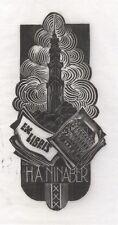Ex Libris test print Dirk Govert van Luijn : Opus 58a, H.A. Ninaber