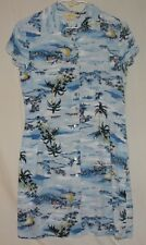 Limited America Cute Hawaiian Button Up Cap Sleeve Dress, Size M Free Shipping!