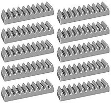 LEGO Technic NEW 10 pcs LIGHT GREY GEAR RACK Lot Mindstorms NXT Part Piece 3743