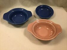 Early Calif. Vernonware pottery lugged bowls small bowl Vintage California USA