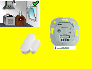 Funk-Einbau-Abluftsteuerung 1000 W+Mini-Fensterschalter Dunstabzug Ofen NEU