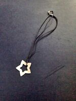 AGATHA Paris Black Cord Necklace with Silver Star NEW
