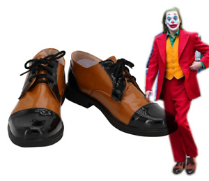 2019 Movie Joker Joaquin Phoenix Arthur Fleck Cosplay Shoes Boots Custom Made