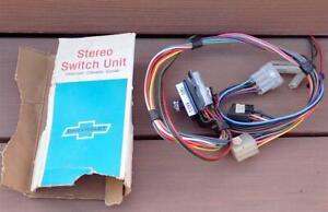 NOS GM Tape Radio Stereo Switch Unit Multiplex & 8 Track Camaro Chevelle Corvair