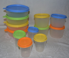 Tupperware Rare Impressions Snack Cups 4-oz~Mini 2-oz~Wonders Bowls 6-oz New