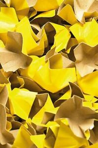 Papier-Verpackungschips gelb 240 Liter 1 Karton Füllmaterial Papierpolster