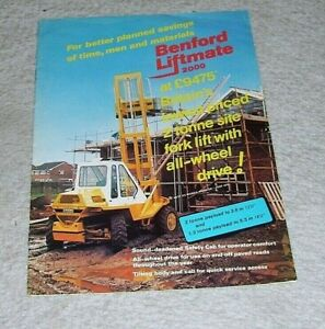 BENFORD LIFTMATE 2000 FORKLIFT SALES BROCHURE 1978 Pub no 7845 40M-5.78-JB
