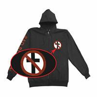 Bad Religion Men's  Crossbuster Zip Up Hood Zippered Hooded Sweatshirt Black