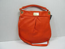 MARC BY MARC JACOBS  ORANGE LEATHER CLASSIC Q HILLIER HOBO HANDBAG M0001405C
